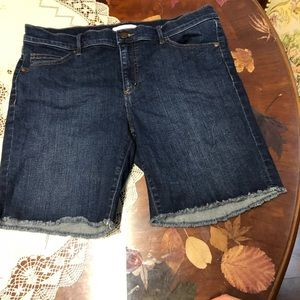 Ann Taylor denim blue jean shorts